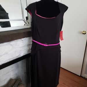 Signature by Songria black and hot pink dress.SZ14